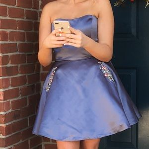 Sherri Hill Strapless Dress